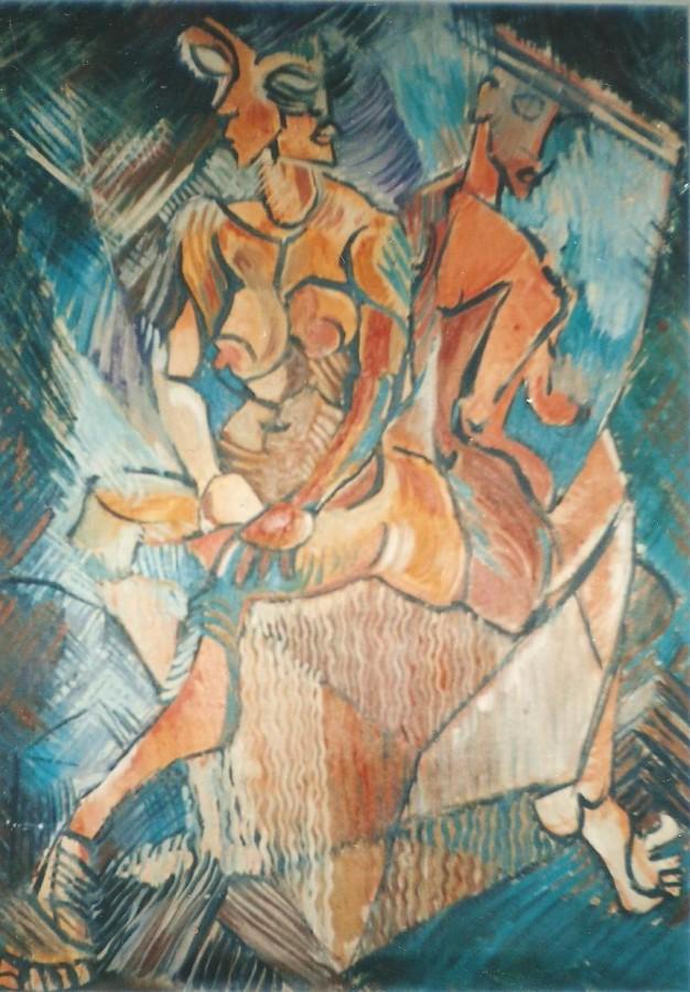 Miss    Dimensiune 70 X 50 cm, Tehnica Ulei pe panza, 1998