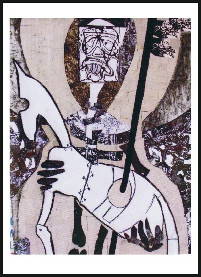 Mizeria - colaj, 83x67, anul 2001