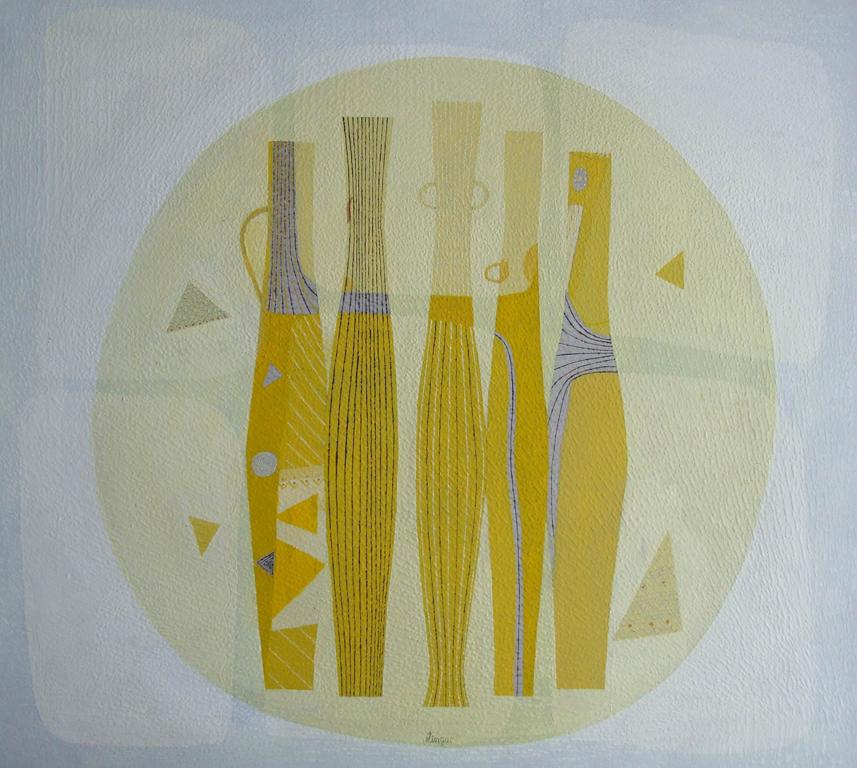 Natura statica galbena, 70x80cm, ulei pe carton, 2012