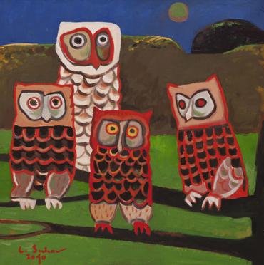 Noapte cu luna plina, ulei pe pânza, 50 x 50 cm, 2010