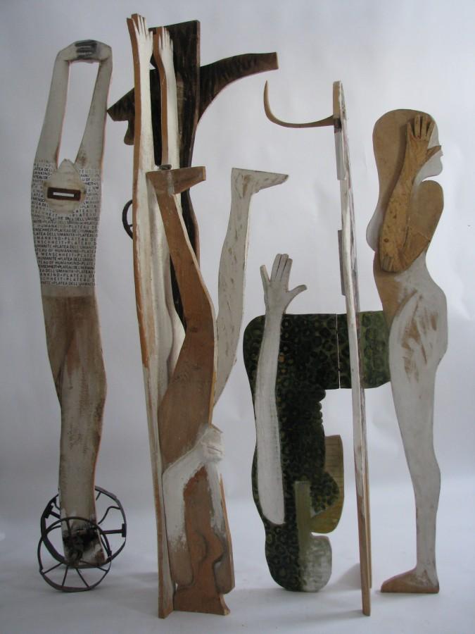 Oameni Stari - lemn policrom, metal; dim 210x250x55cm, 2007