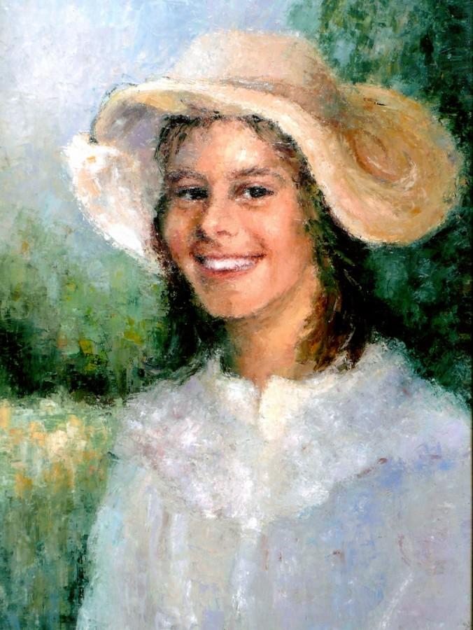 Olandeza - ulei pe pfl, 70x85 cm, 1987 .