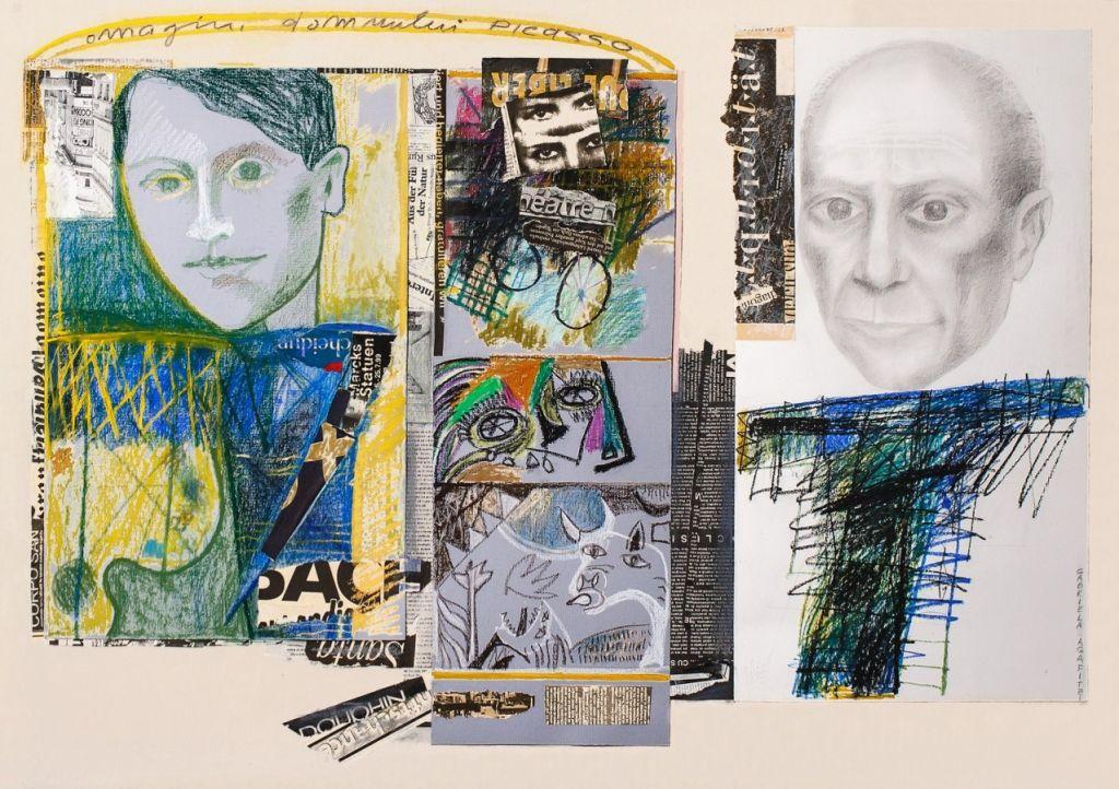 Omagiu domnului Picasso, tehnică mixtă, 70x100 cm, 2007