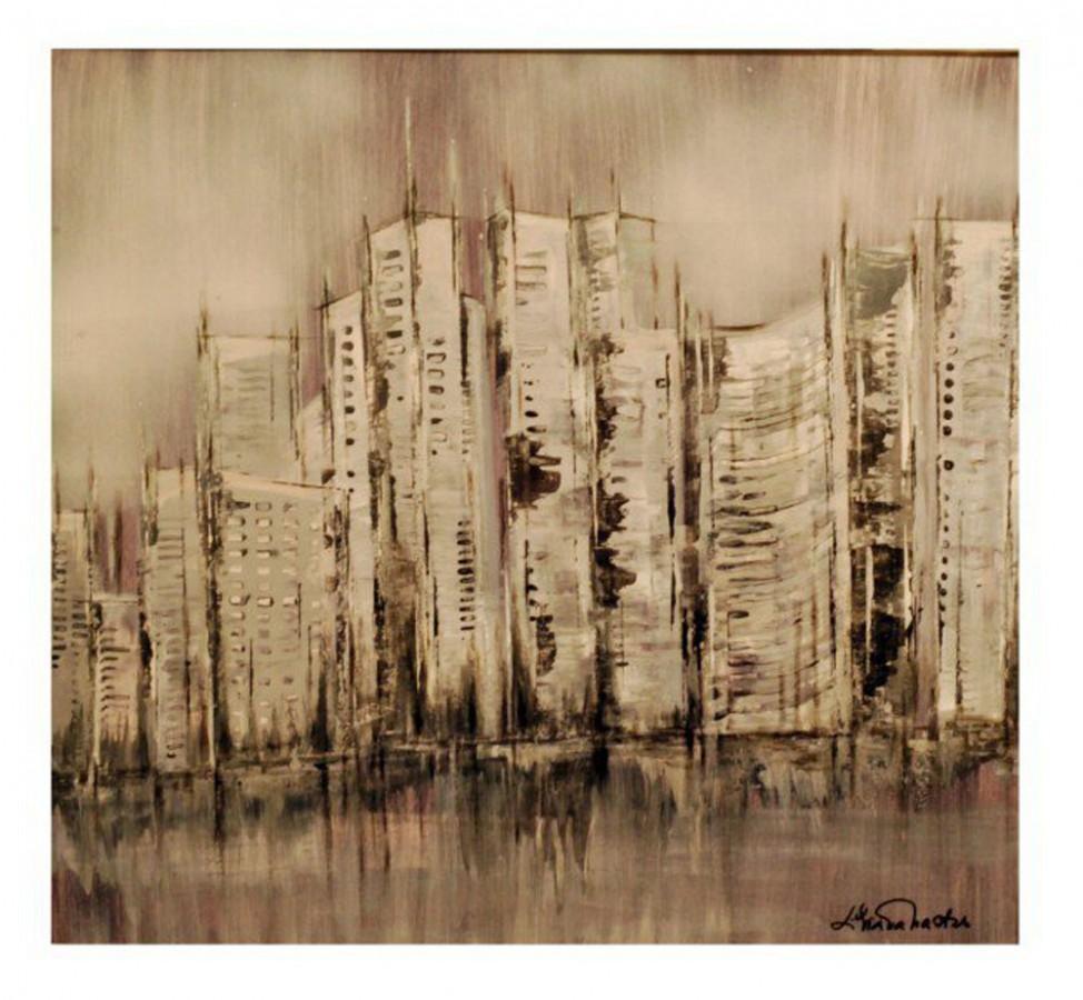 Orasul, 60 x 60 cm, tehnica mixta, 2009