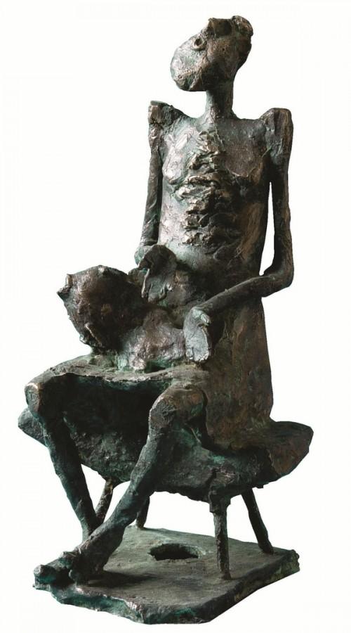 Pescar, bronz, 29x20x17 cm., 2003