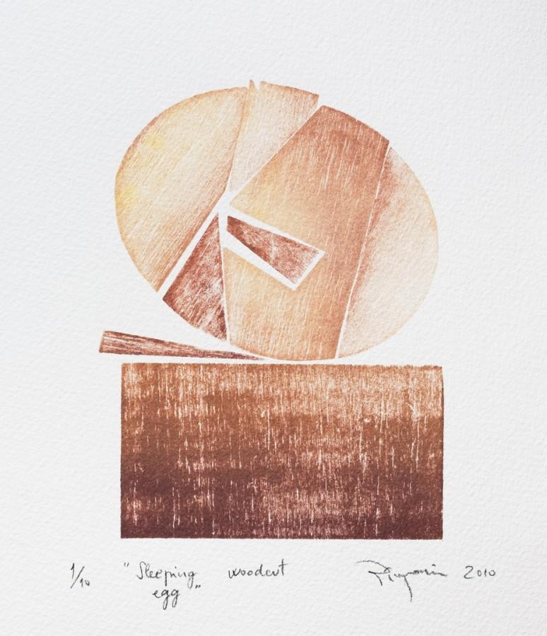 Pinzariu_Florin-Sleeping_egg-xilogravura-15x21cm .