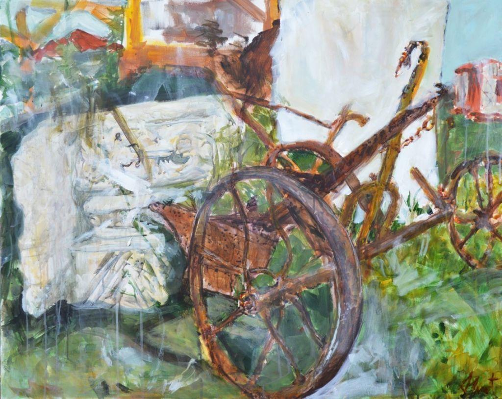 Plug ruginit, acryl pe panza, 100x70cm, 2013 .