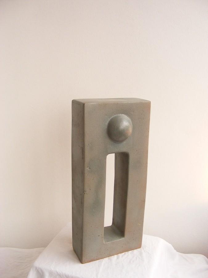 ''Poarta'' Ceramica glazurata, ardere 1150 C,48x26x11 2009