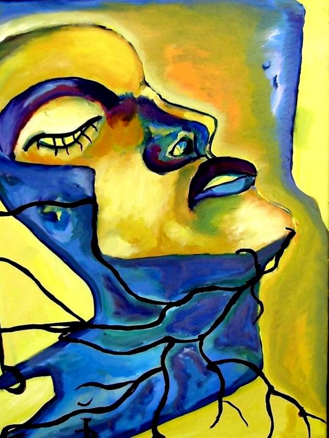 Profil de femeie, 90 x 40 cm, ulei pe panza, 2011