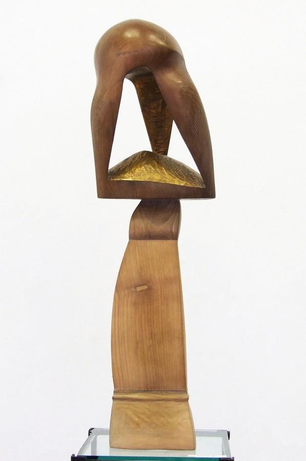 Pt Anuar - Copac II - lemn  nu si cirec patinat 63x13x15  2005