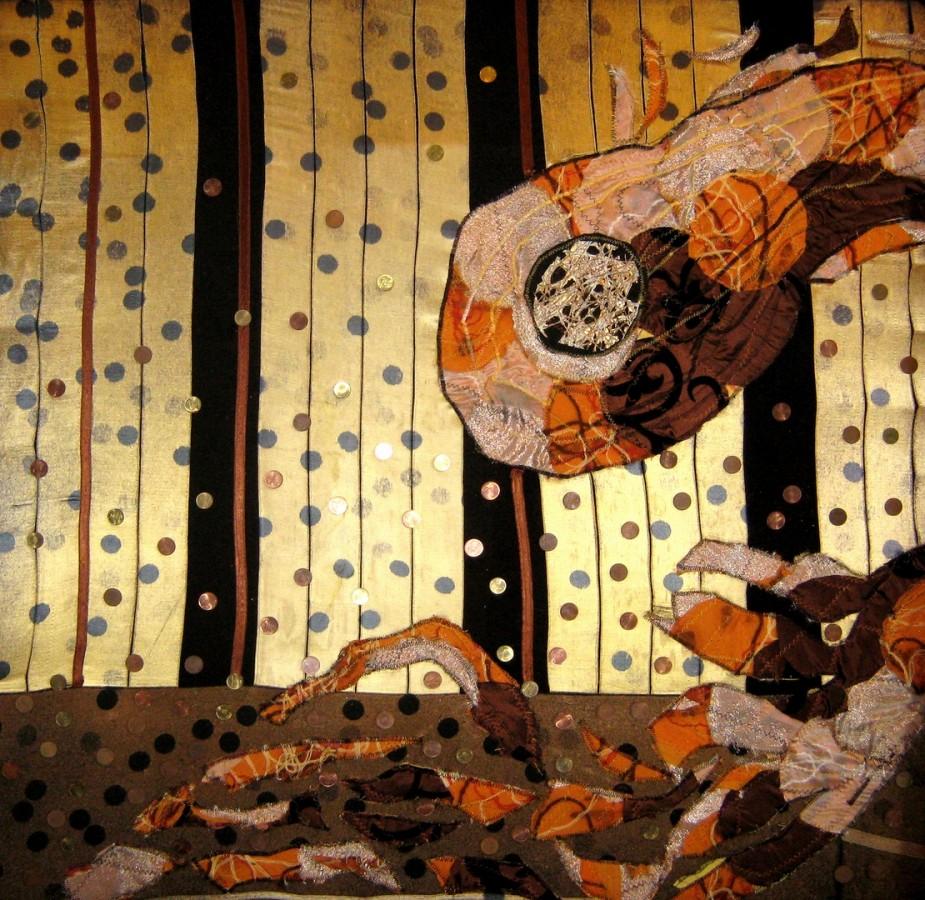 Ecaterina Marghidan DORINTE 100-100 cm colaj textil 2012
