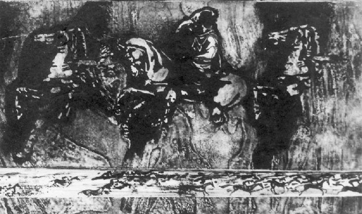 Melancolie - tehnica mixta, 13x18, anul 1983