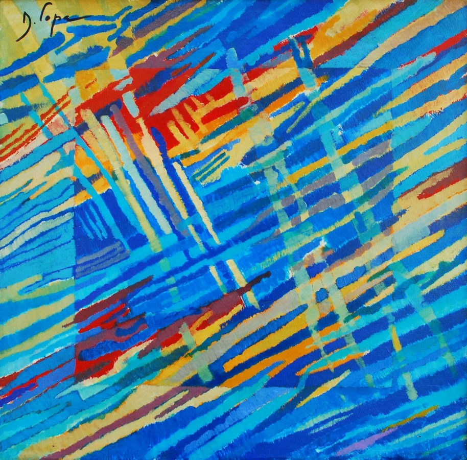 Ritmuri Contemporane - 60x60 cm, acril pe palza, 2000