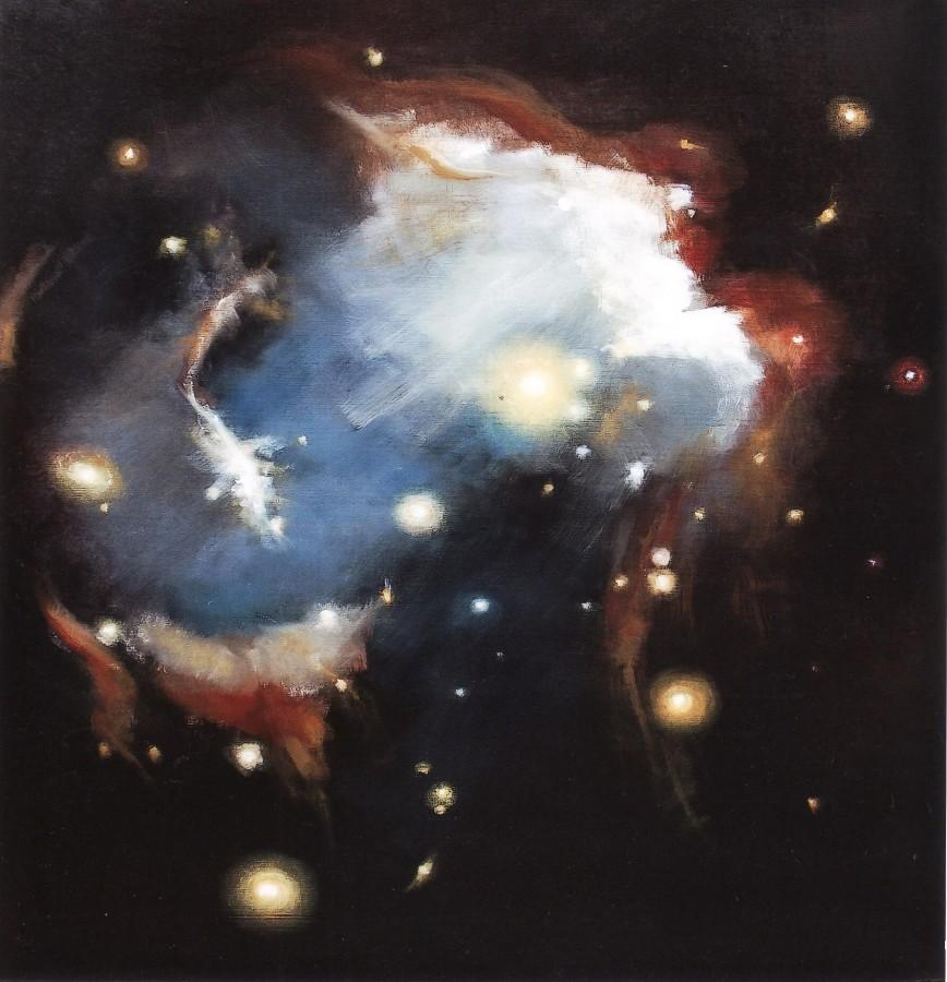 Simfonie siderala - ulei pe panza, 95x100 cm, 2013