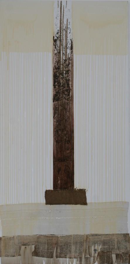 Templul Marelui Arhitect - acrilic, colaj pe panza, dim 200cm100cm