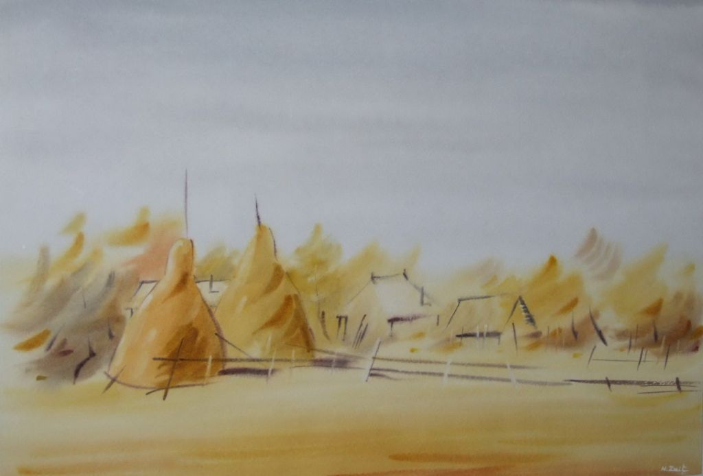 ,Toamna, ziua, soare!..._, 40 x 57 cm., acuarela, 2012