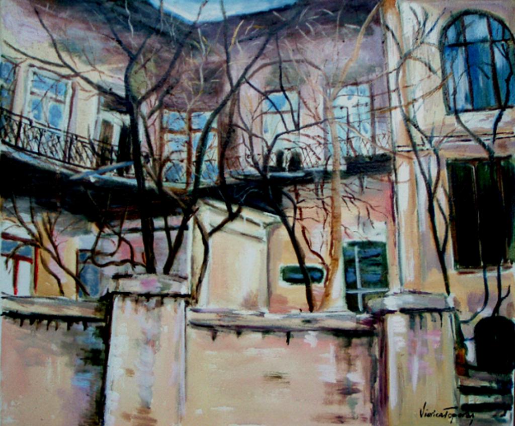 Trepte_ si _ferestre_ intre_ doua_ strazi ulei pe panza   60-50cm, 2011