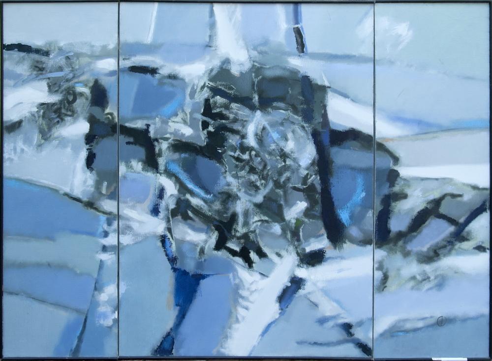 Triptic-Eminesciana, 45,100,45x140 cm, u.p., 1995