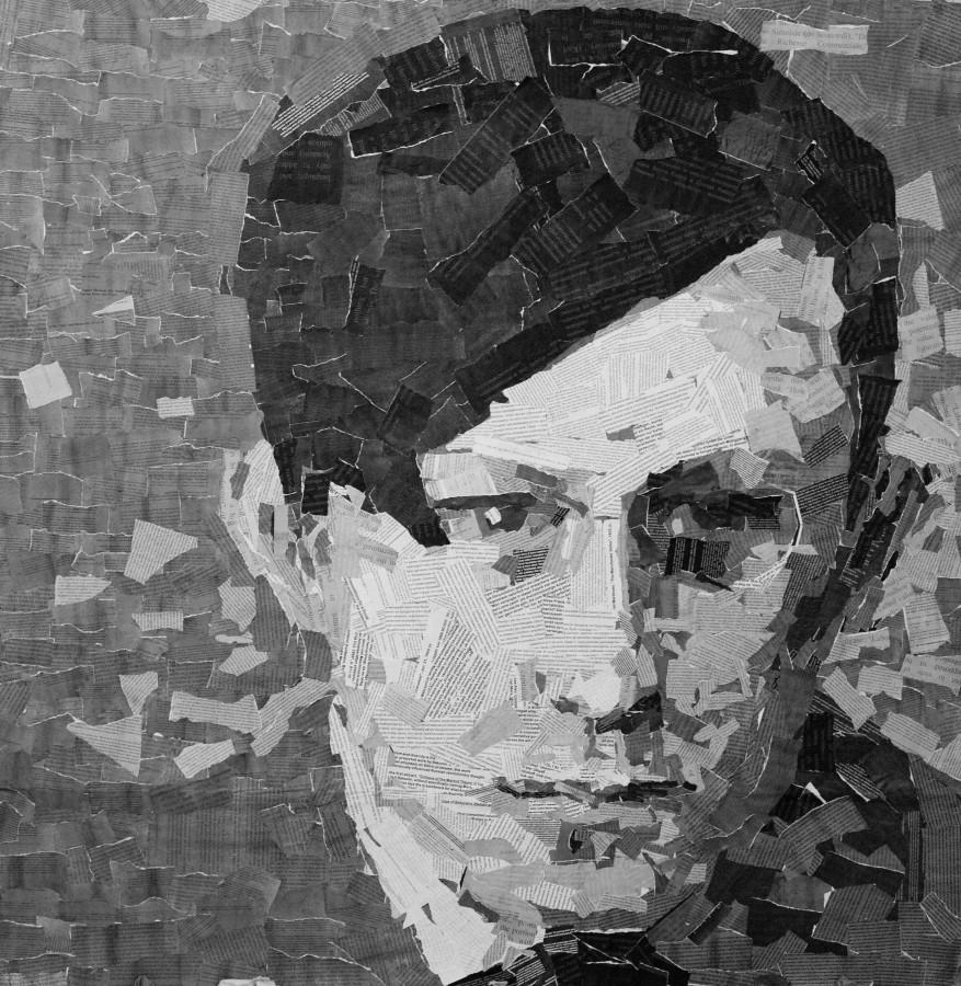 Tristan Tzara, portret dadaist con-textualizat_ colaj din textele unor autori ai vremii cum sunt  Karl Marx, vladimir Ilici Len