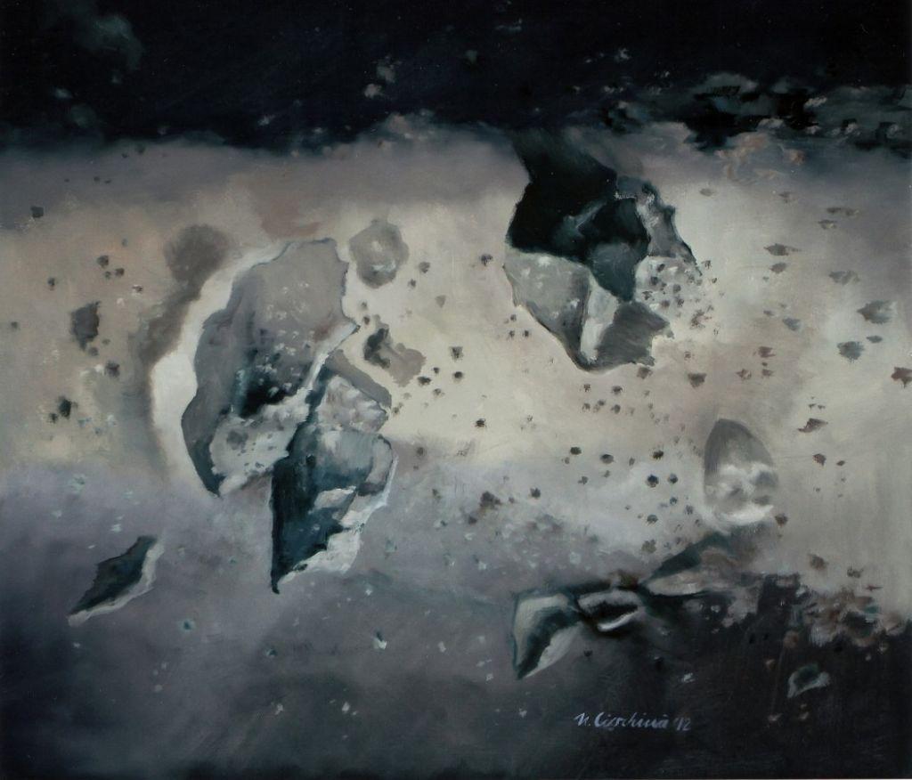 Univers galactic - ulei pe panza, 80x90 cm, 2012