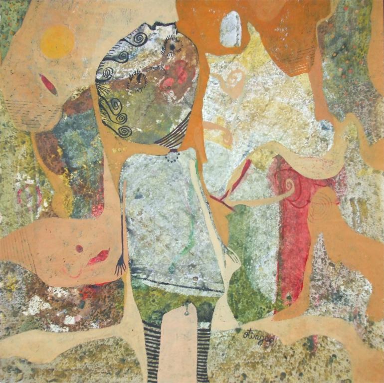 VISATORUL, 40X40, ULEI PE CARTON, 2011