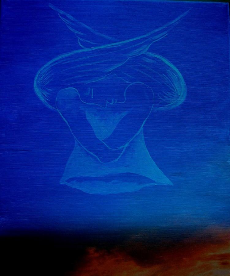 Stelian Onica- Ziua a 7-a, tehn.mixtă/pânză,70/50 cm, 2012