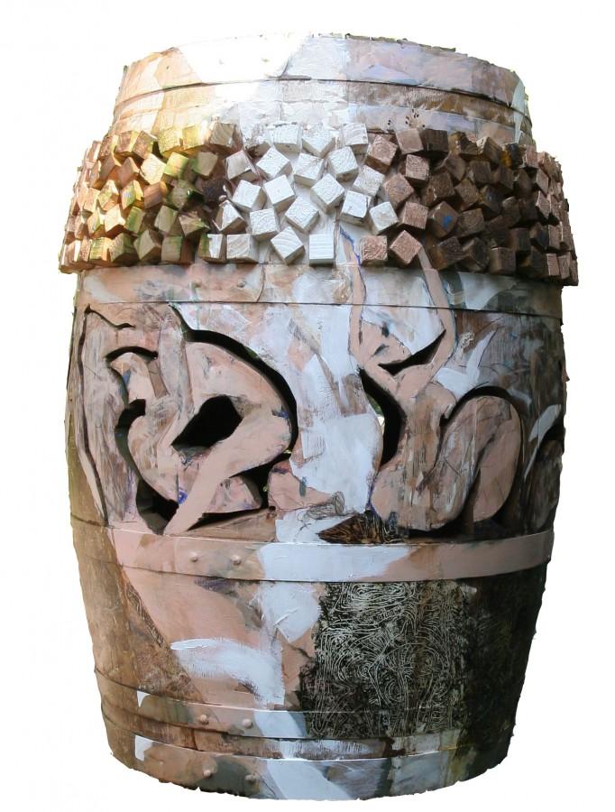 betia dragostei II, 110X80X80cm, tm pe lemn