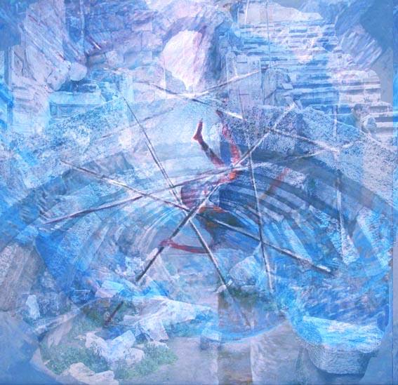 Stelian Onica - Icar, tehn. mixtă/carton, 48/34 cm, 2011