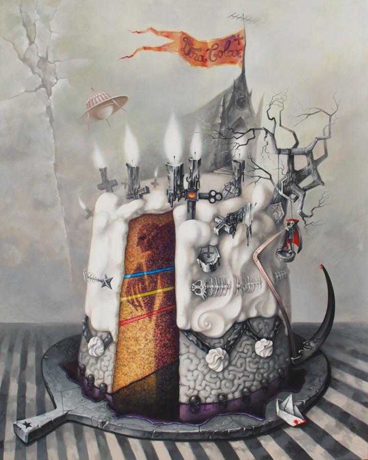 dracolax+ 5 Peace Off Cak -  2012 - 2013, acrylic pe panza, 80x100 cm