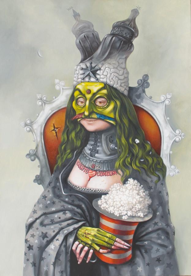 dracolax 6 True Vlad- 2012 - 2013, acrylic pe panza, 80x100 cm