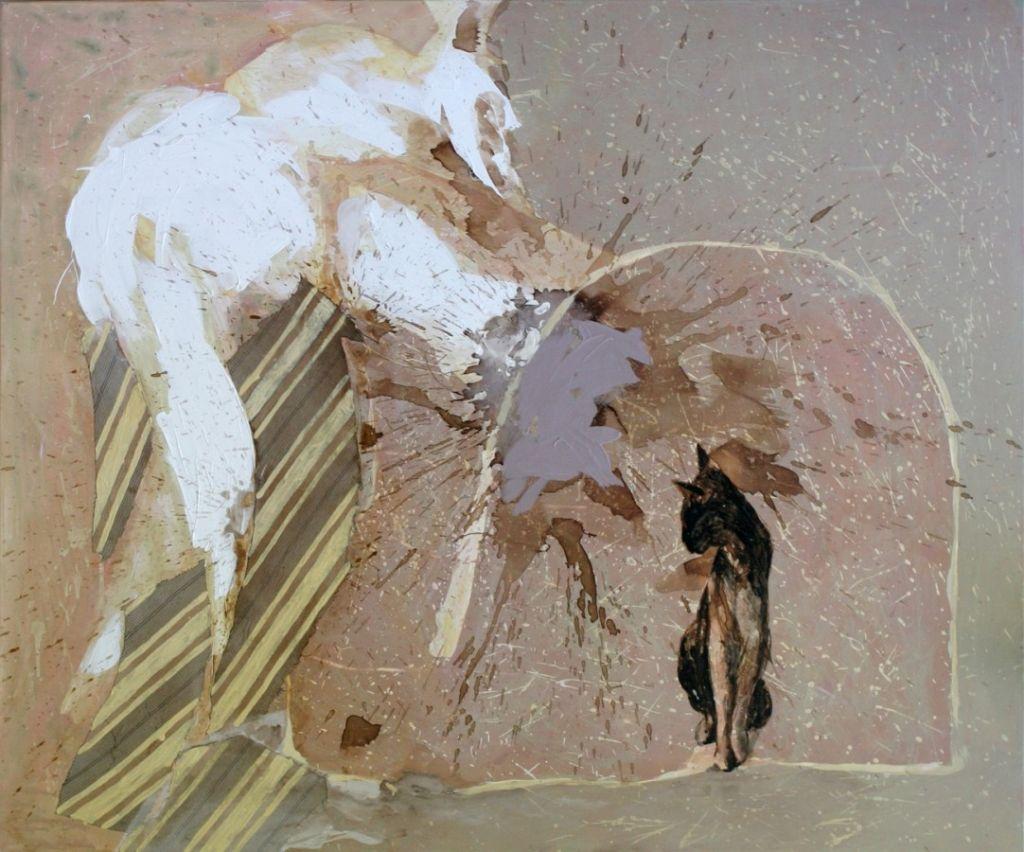 ingerul pisicii, 100x120cm,t.m.pepanza .
