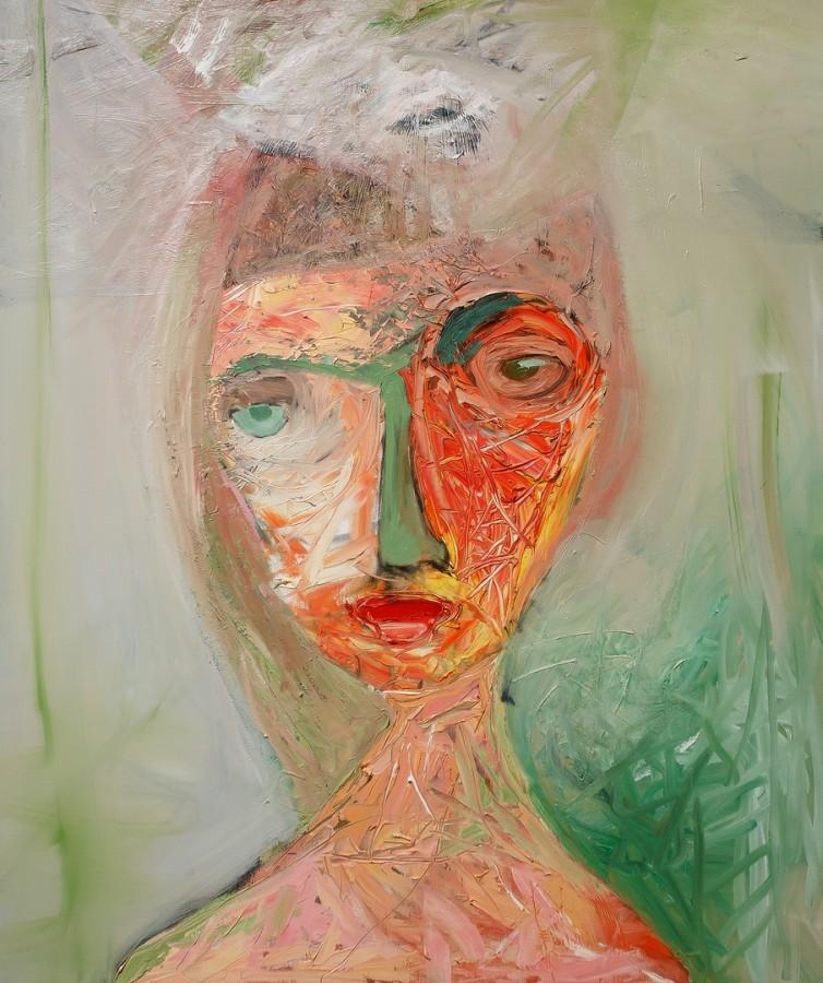 introspectie,100x120cm,ulei pe panza,2012