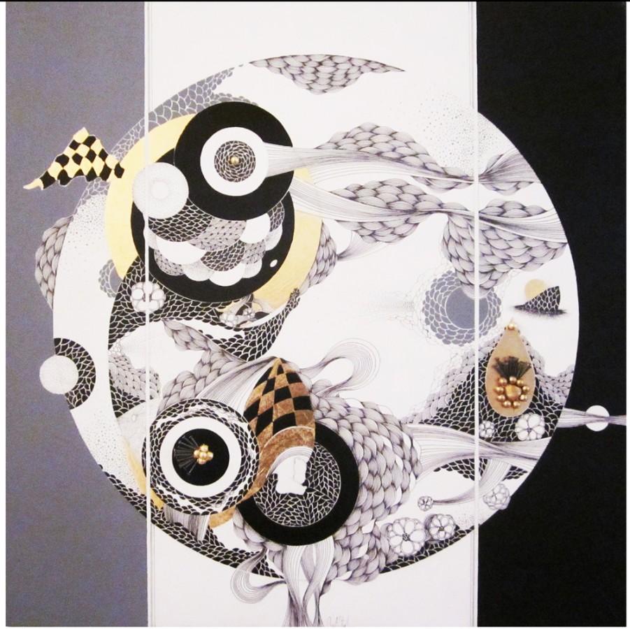 mihaela stirbu - Abandon 2012 - 60x60 grafica mixta