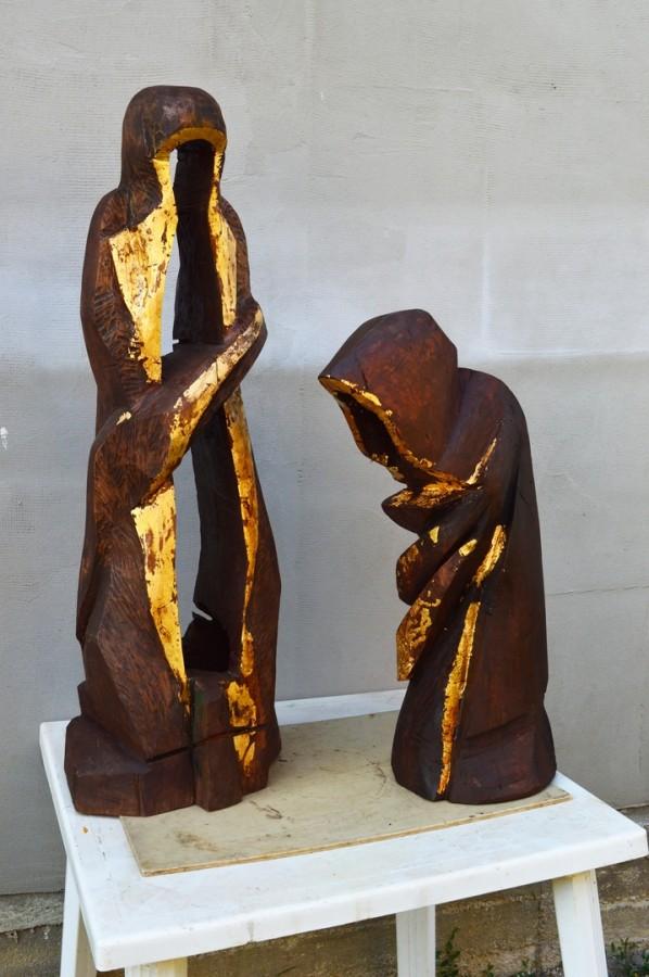 trecere II, 70x22x24 cm ,lemn patinat, Ploiesti,2013