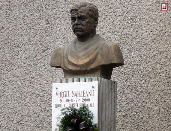 Bustul liderului de sindicat Virgil Săhleanu - autor Matei Corneliu