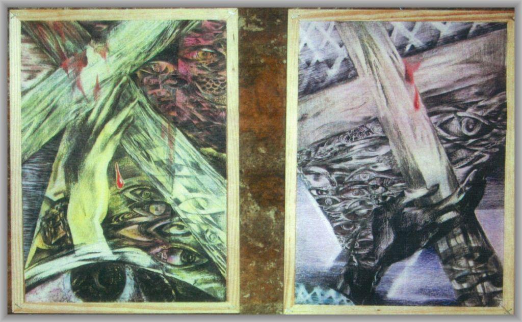 Crucile -tuș pe hârtie, 21x29.7 cm, 2009