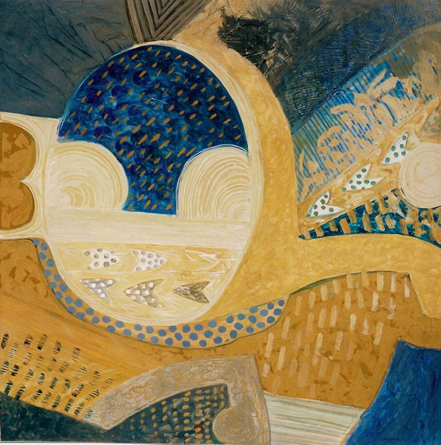 Gradina, 150x150cm, tehnica mixta pe panza, 2003