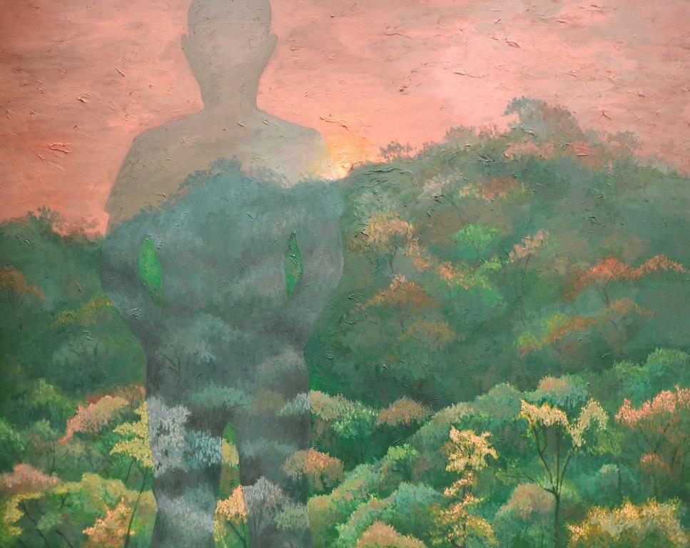 George Cernat, Asfințit, ulei pe pânză, 150x120 cm, 2011