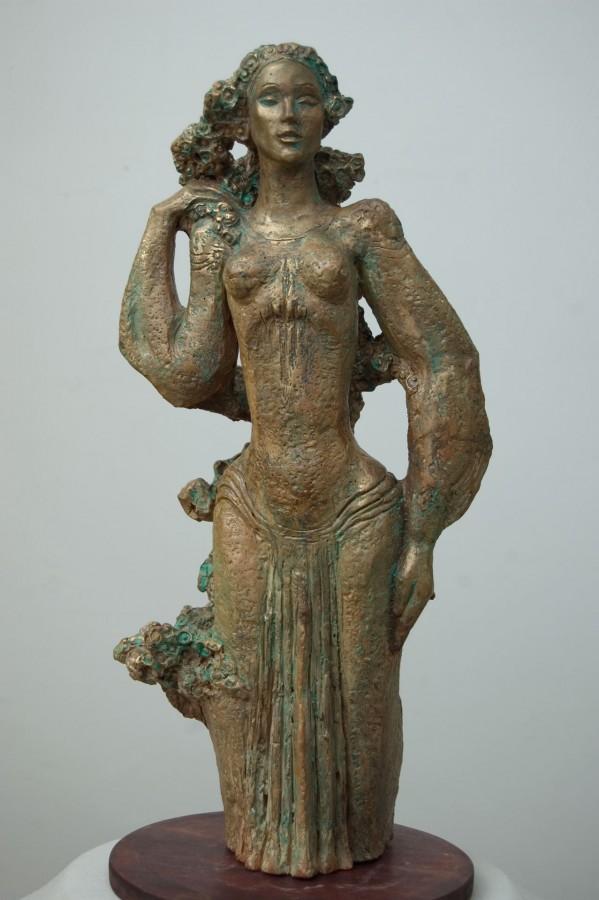 Mireasa-teracota-patinata-49x22x22-cm