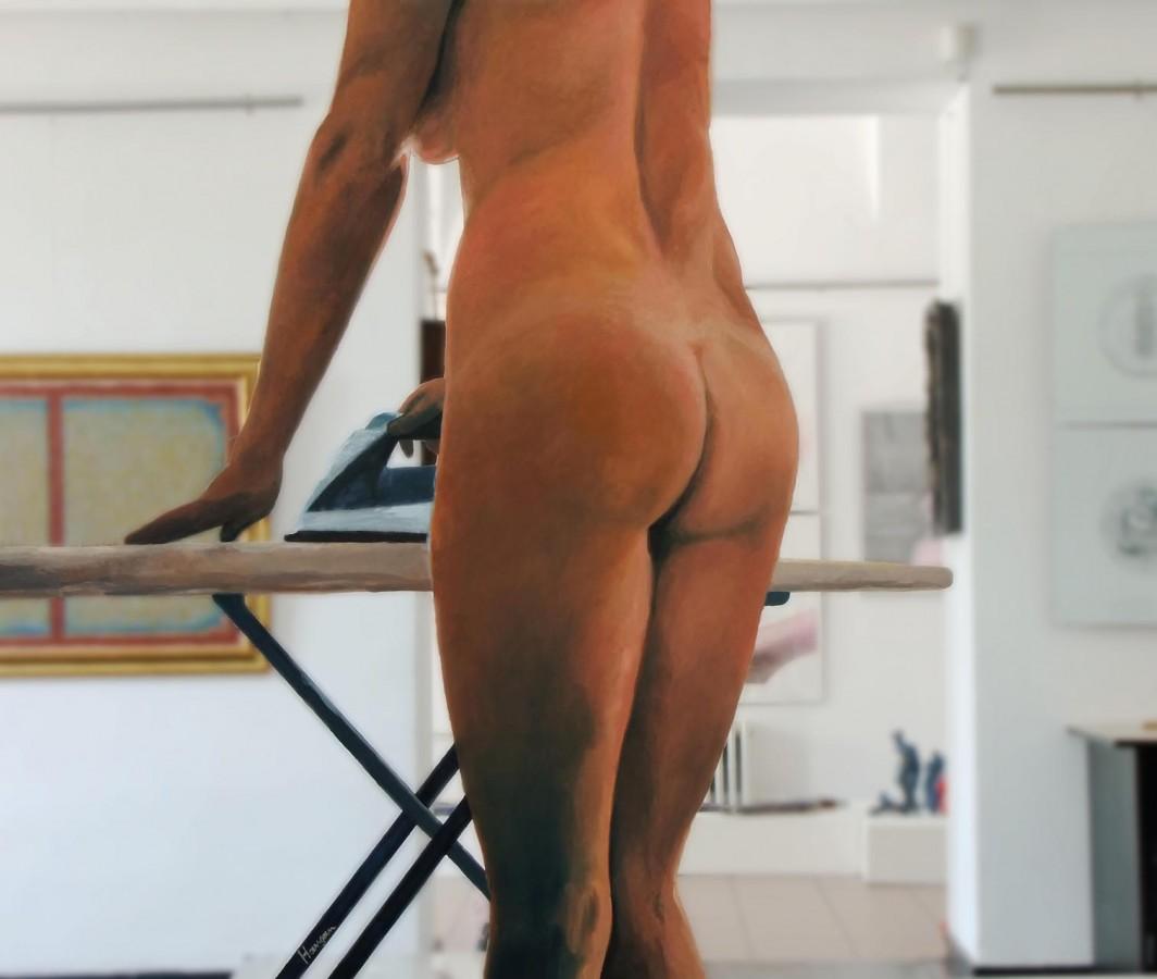 Cealaltă față, ulei pe oglindă, 100 x 119,5 cm, 2012