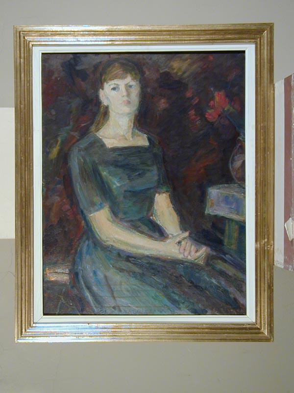 Portret in albastru, 80*67 cm