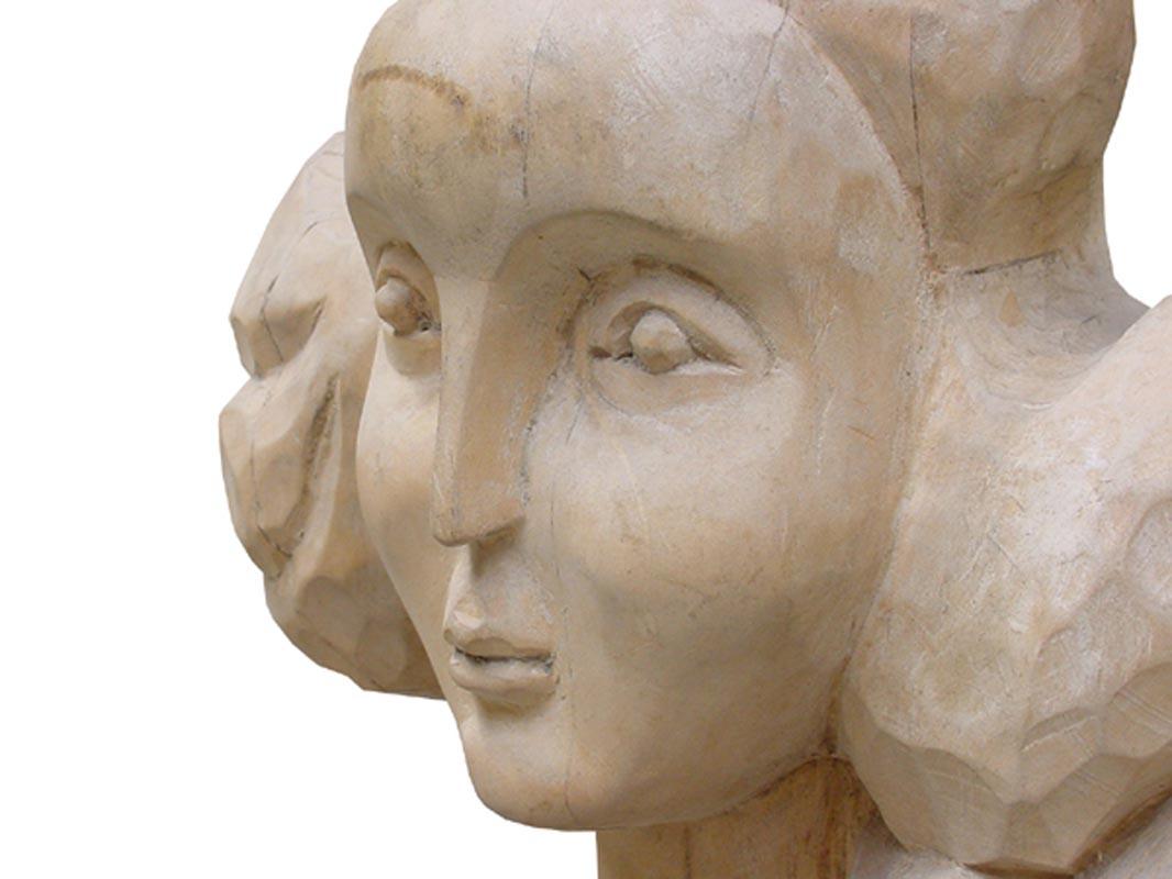 Portret -detaliu, lemn, 25*50*18 cm