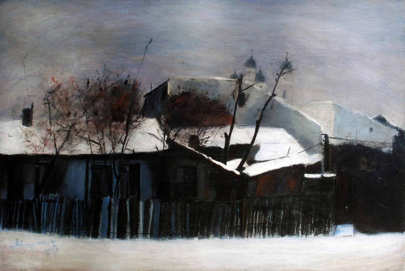 MAHALA IEȘEANĂ – acrilic, 38X55, 2013
