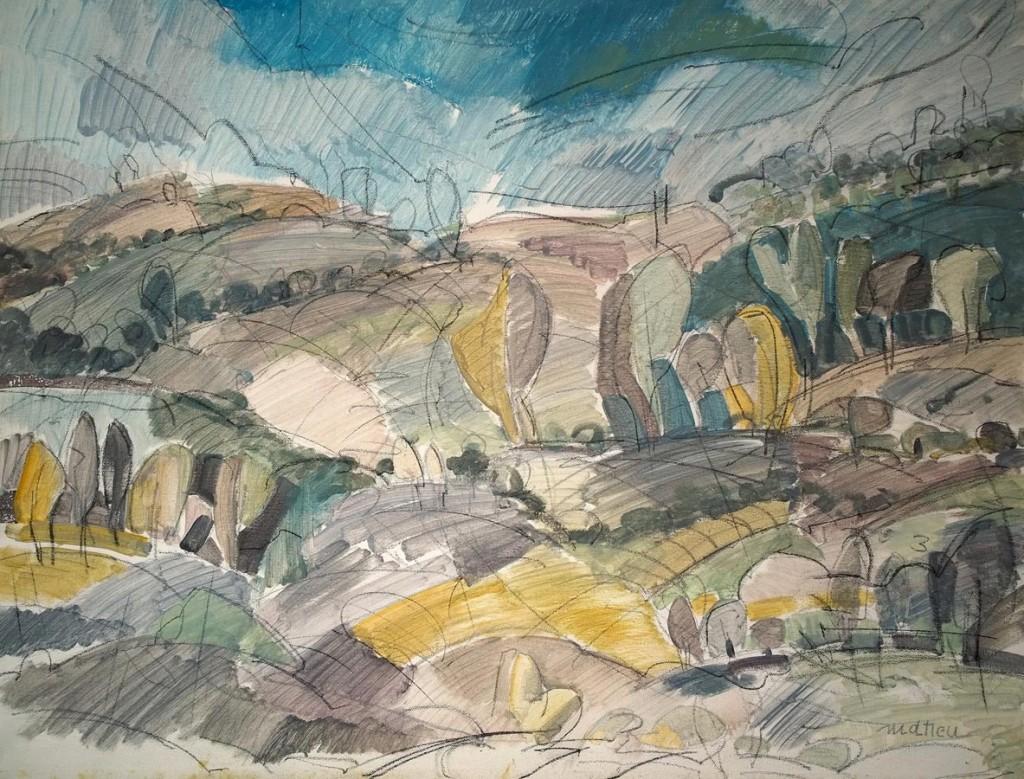 Albury hills, 50x70, acril pe panza