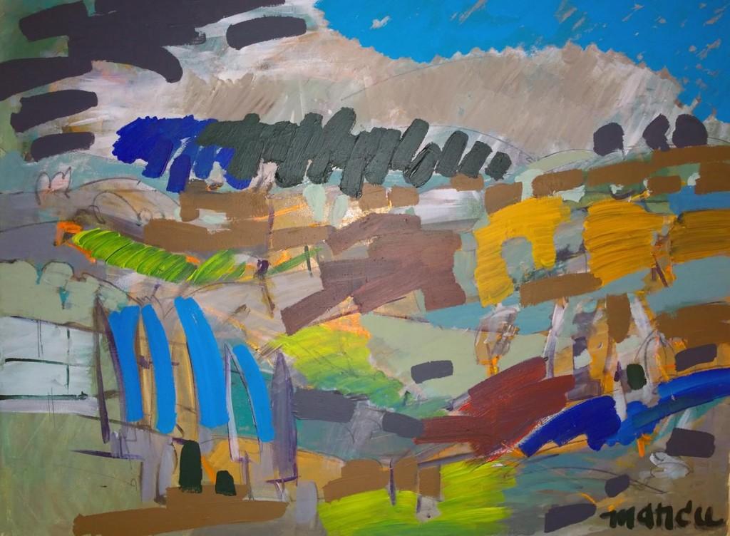 Echuca hills, 50x70, acrilic pe panza