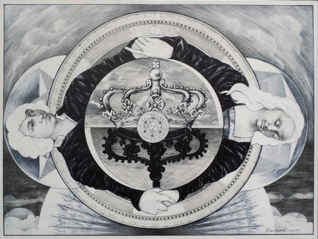 Harmonia mundi 2014, 60cm80cm liner negru pe panza plus acrilic