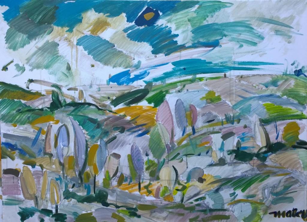 Landscape I, 50x70, acrilic pe panza