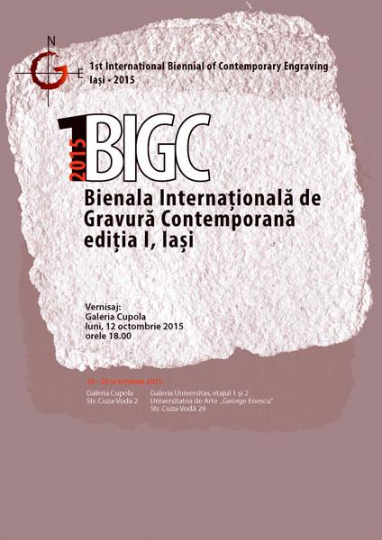 BIENALA INTERNATIONALA DE GRAVURA CONTEMPORANA EDITIA I - IASI